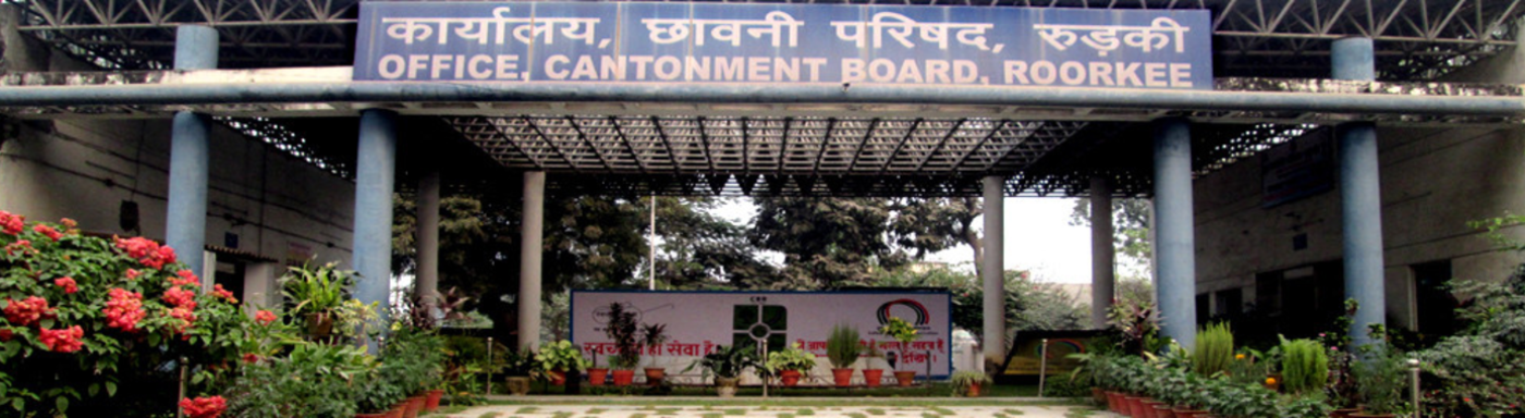 Cantonment Board Roorkee